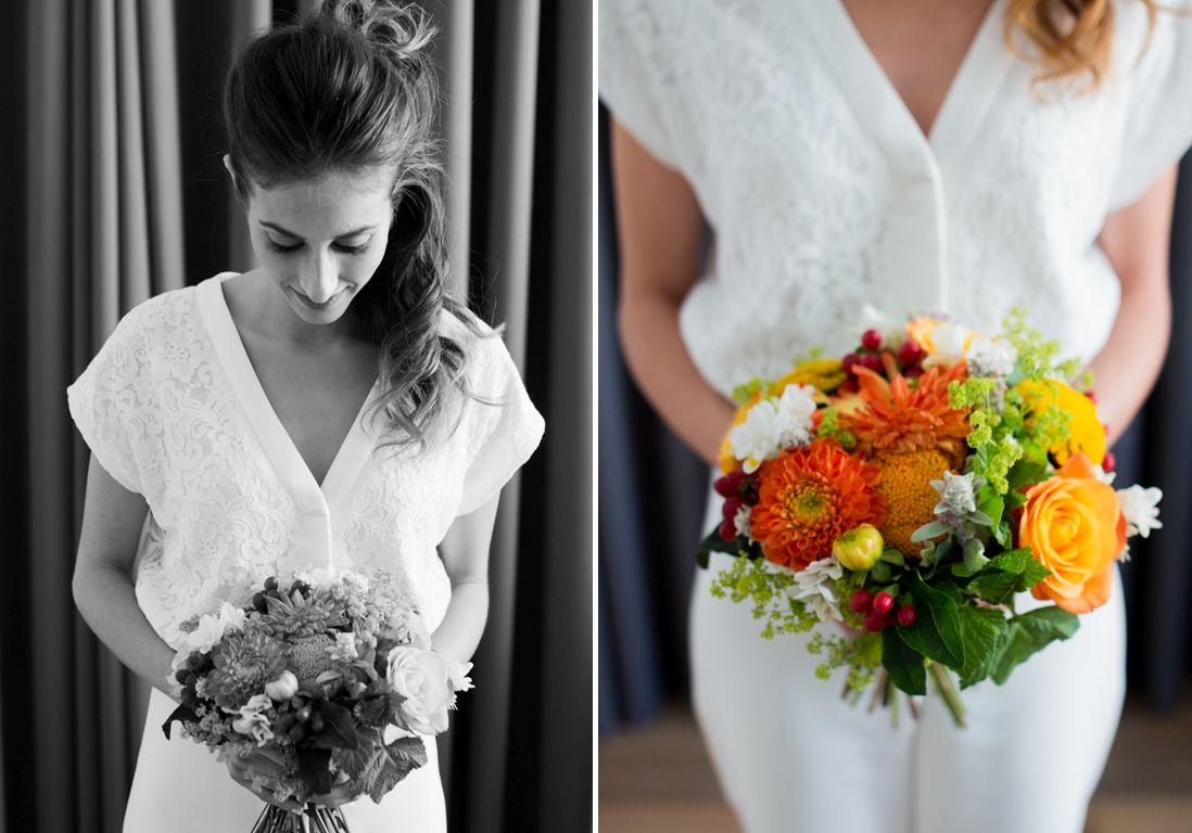 Un mariage intime & chic en jaune et orange à Paris -@Marine blanchardPhotographie-25