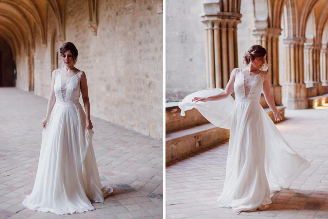 robe mariee fluide inspieration romantique