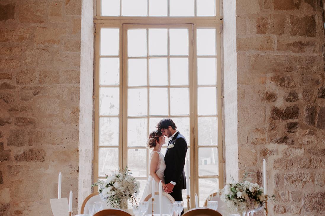 photos couple mariage abbaye